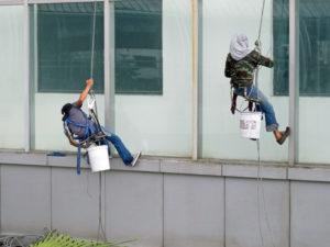 mytí oken ve výškách