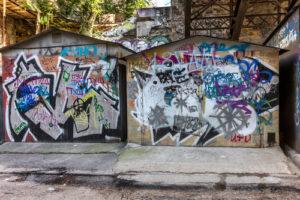 Odstranění graffiti z domu