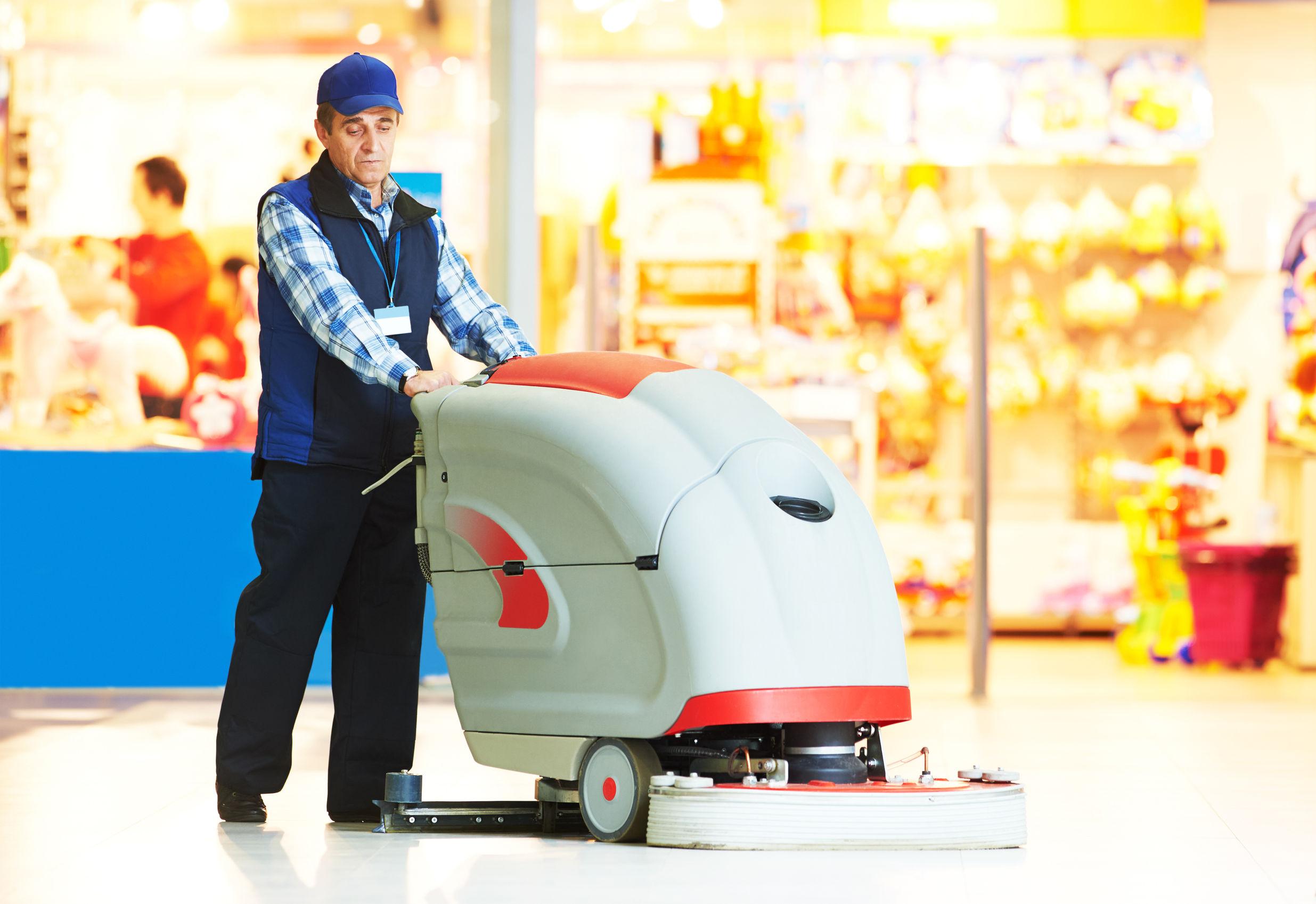 strojové mytí podlah