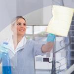 odstránenie nečistôt z okien